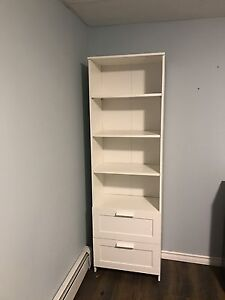 wall cabinet with 3 drawers, white