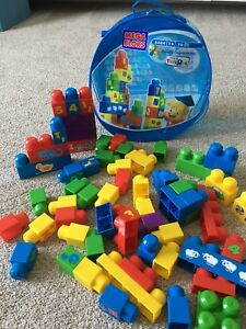 Mega bloks with letter and number