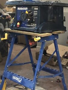"""Mastercraft 10"""" Table saw with work bench for sale ."""