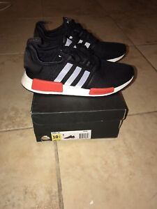 Adidas NMD R1 - Black/Red - Size 10.5