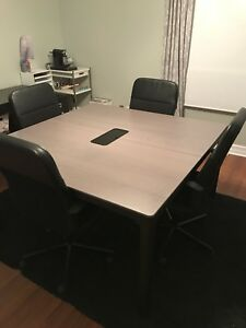 IKEA office table and chairs