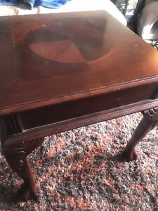 Coffee table with end tables