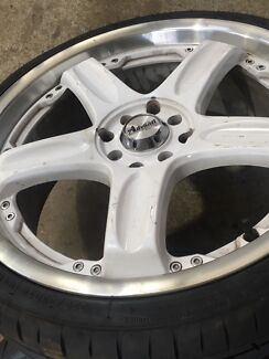 "18"" drift rims 18x7.5 new tyres"