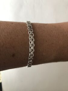 """925 Sterling Silver Italy- Petite Intricate Chain Bracelet 7.5 """""""