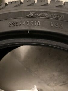 1x 225/40/R18 Michelin X-Ice XI3 80-85%