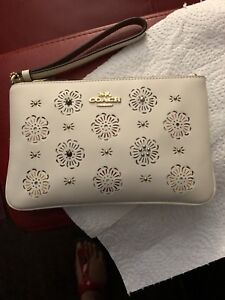 New Authentic coach wristlet in box