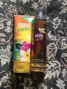 Bath and body works spray and body cream