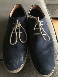 Dark blue seude shoes. Size 42