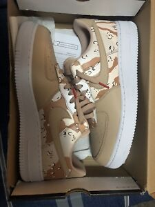 NIKE AIR FORCE ONE DESERT CAMO SIZE 10, BRAND NEW, NEVER WORN