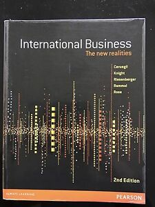 International business - the new realities 2nd edition Text Book North Tivoli Ipswich City Preview