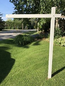 For sale yard sign post
