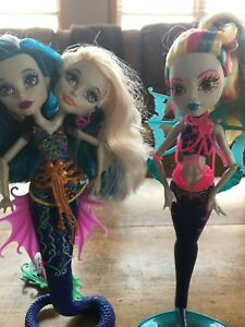 Mermaid Monster High Dolls Lot 3