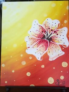 Abstract lily painting