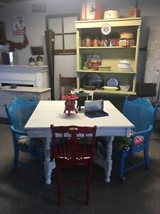 Antique refinished dining table $280