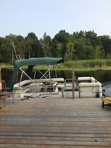 2003 legend 18 ft pontoon
