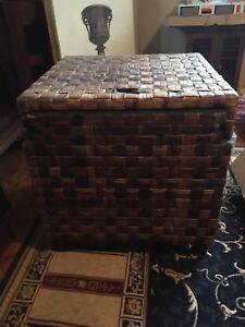 Rattan storage box x 2