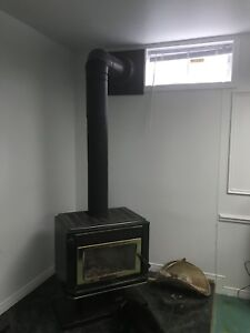 Wood stove, chimney and pipe