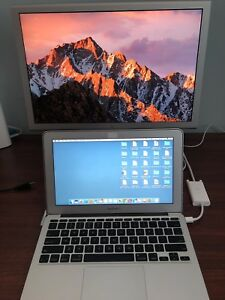 "Late 2010 MacBook Air with 20"" Apple Cinema Display"