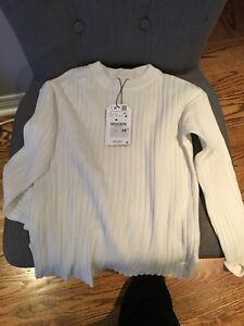 BNWT ZARA girl's size 9 off white sweater