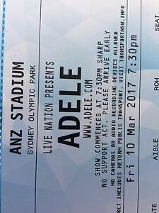 2 Adele tickets Fri 10th March Mona Vale Pittwater Area Preview