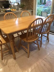 Dining table set - $230