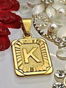 New! Gold coloured initials letter K pendant charm