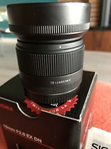 Sigma 19mm F2.8 EX DN E-mount for E and FE Sony Cameras