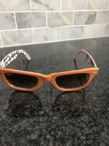 Orange Rayban wayfarer Sunglasses with case