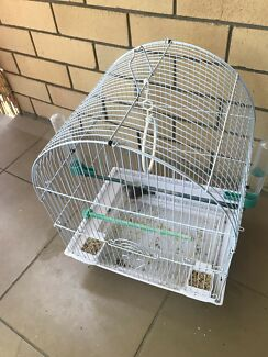 Finch with cage