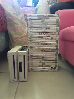 2x wii consoles with games