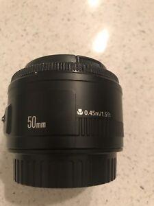 Objectif Canon 55mm, utilisé 2x, neuf