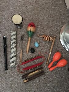 Percussion items and flutes
