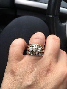 Wedding ring set 3.5 carat