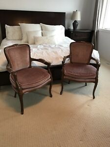 Antique French country armchairs