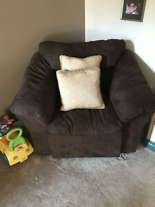 Single Brown Couch Chair