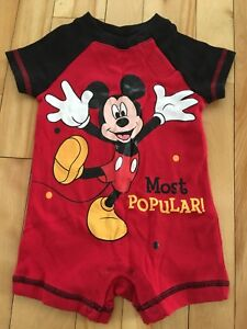 Romper Mickey Mouse 3-6 mois