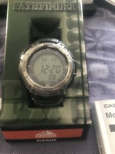 Casio Atomic solar pathfinder titanium watch  $150