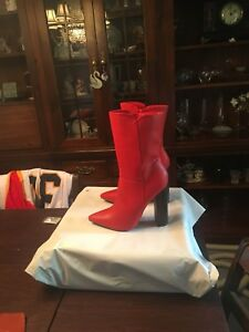 Red boots size 8