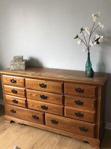 Oak dresser - real wood