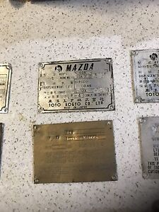 Mazda Rx3 1972 10a sedan Id plate tags Docklands Melbourne City Preview