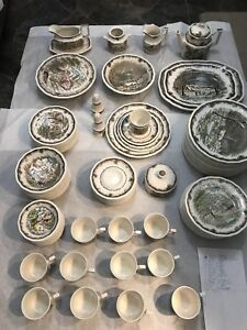 England tea pot, bowls, plates mugs...,
