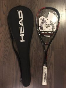 Brand new! HEAD squash racquet with a cover bag