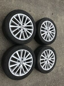 "17"" OEM Volkswagen Jetta Alloy Wheels w/ All Season Tires"