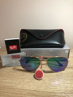 8ffe80c7d80 Rayban aviators copy OW 9 rb3026 60mm tea tint lens gold frame ...
