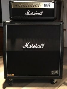 Marshall 1960a cab and MG100fx amp head