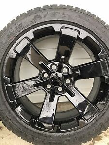 "GMC Black 22"" Rims and tires"