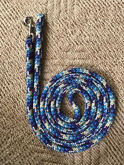 newly made horse leads/reins and dog leashes.