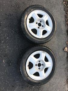2 Honda wheels with aluminum alloy rims