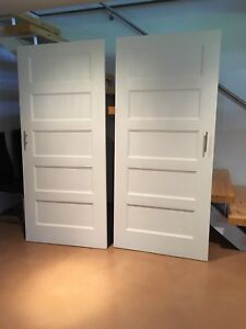 2 portes coulissantes garde-robe