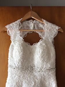White wedding dress, around size 4-6.